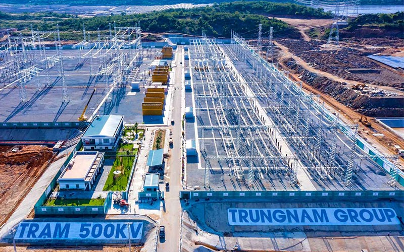 Khánh thành Dự án Trạm biến áp 500kV và đường dây 220/500kV kết hợp Nhà máy điện mặt trời 450 MW